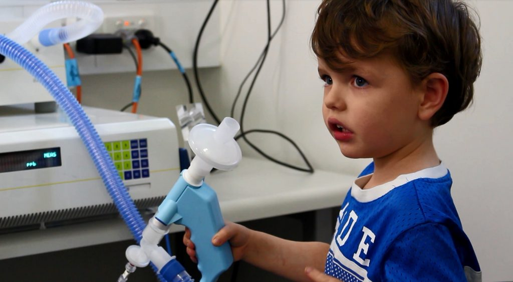 a young boy during an asthma assessment, Assessing Asthma in Paediatrics
